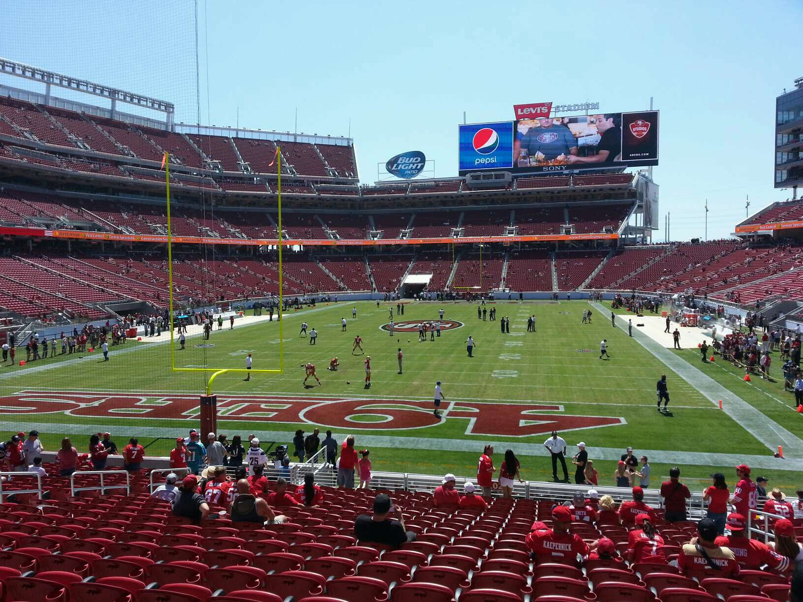 View of the field at Levi's Stadium, home of the San Francisco 49ers.