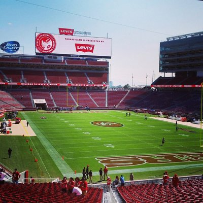 Seat view from section 106 at Levi's Stadium, home of the San Francisco 49ers