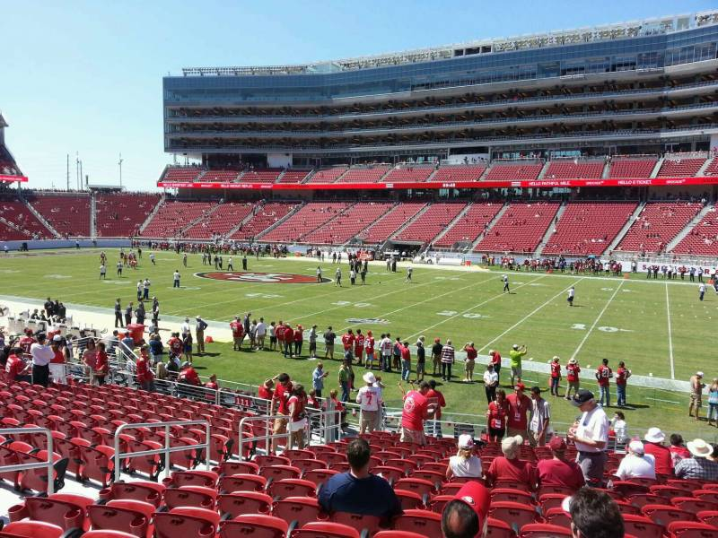 Seat view from section 105 at Levi's Stadium, home of the San Francisco 49ers