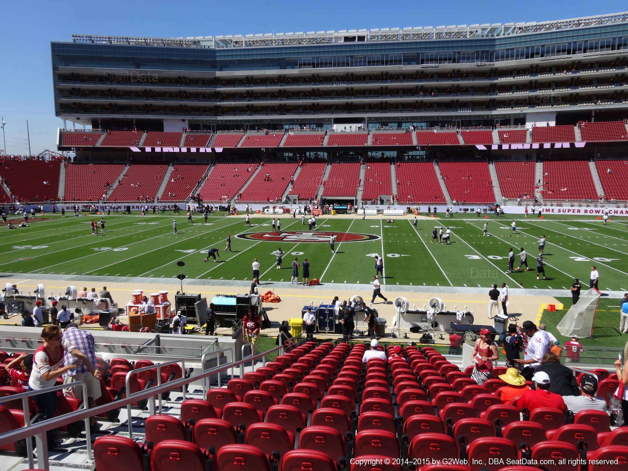 Seat view from section 114 at Levi's Stadium, home of the San Francisco 49ers
