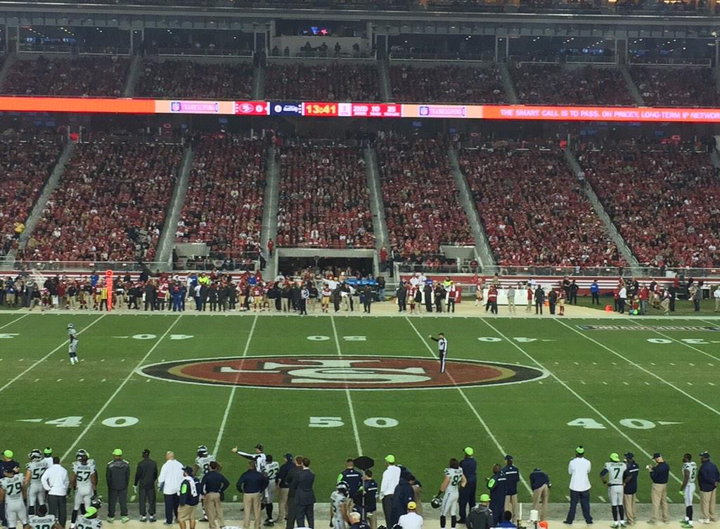 Seat view from section 115 at Levi's Stadium, home of the San Francisco 49ers