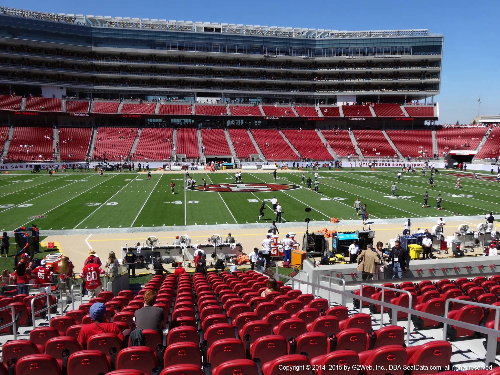 Seat view from section 116 at Levi's Stadium, home of the San Francisco 49ers