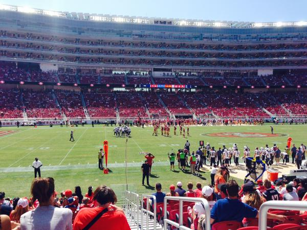 Seat view from section 119 at Levi's Stadium, home of the San Francisco 49ers