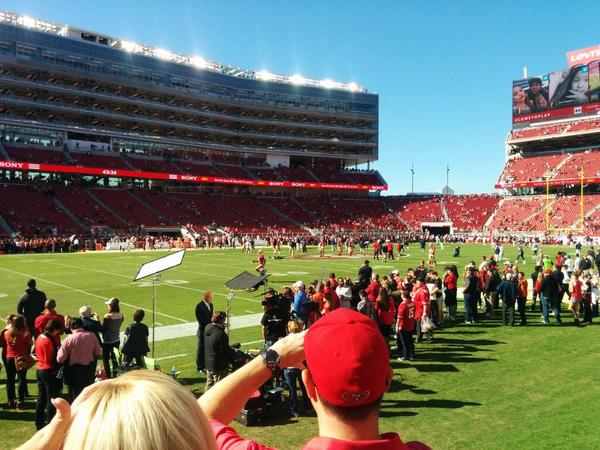 Seat view from section 120 at Levi's Stadium, home of the San Francisco 49ers