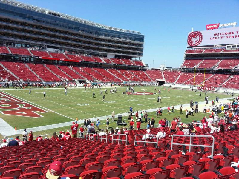 Seat view from section 122 at Levi's Stadium, home of the San Francisco 49ers