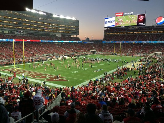 Seat view from section 123 at Levi's Stadium, home of the San Francisco 49ers