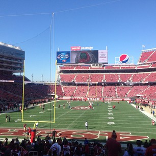 Seat view from section 126 at Levi's Stadium, home of the San Francisco 49ers