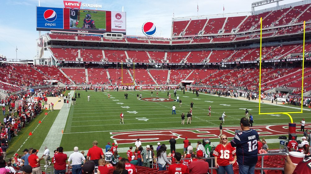 Seat view from section 129 at Levi's Stadium, home of the San Francisco 49ers