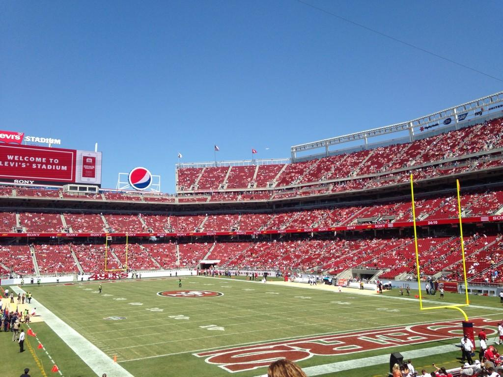 Seat view from section 130 at Levi's Stadium, home of the San Francisco 49ers