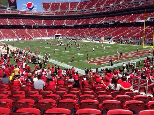 Seat view from section 131 at Levi's Stadium, home of the San Francisco 49ers