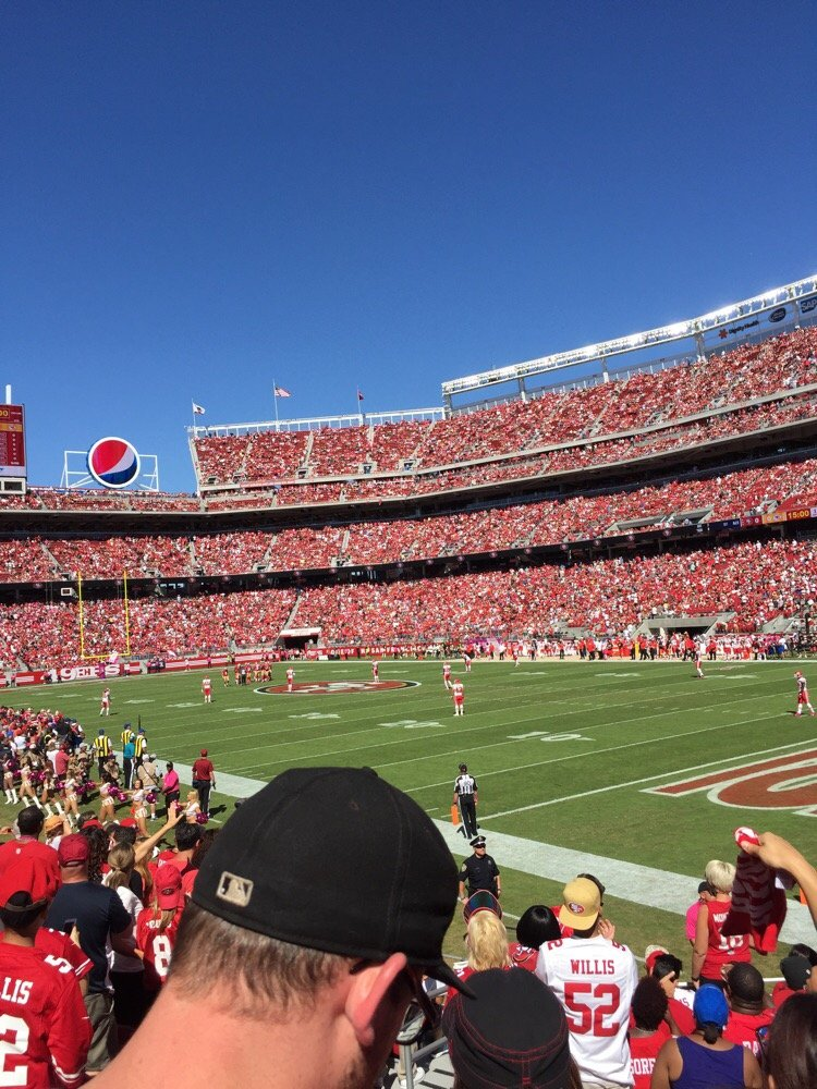 Seat view from section 132 at Levi's Stadium, home of the San Francisco 49ers