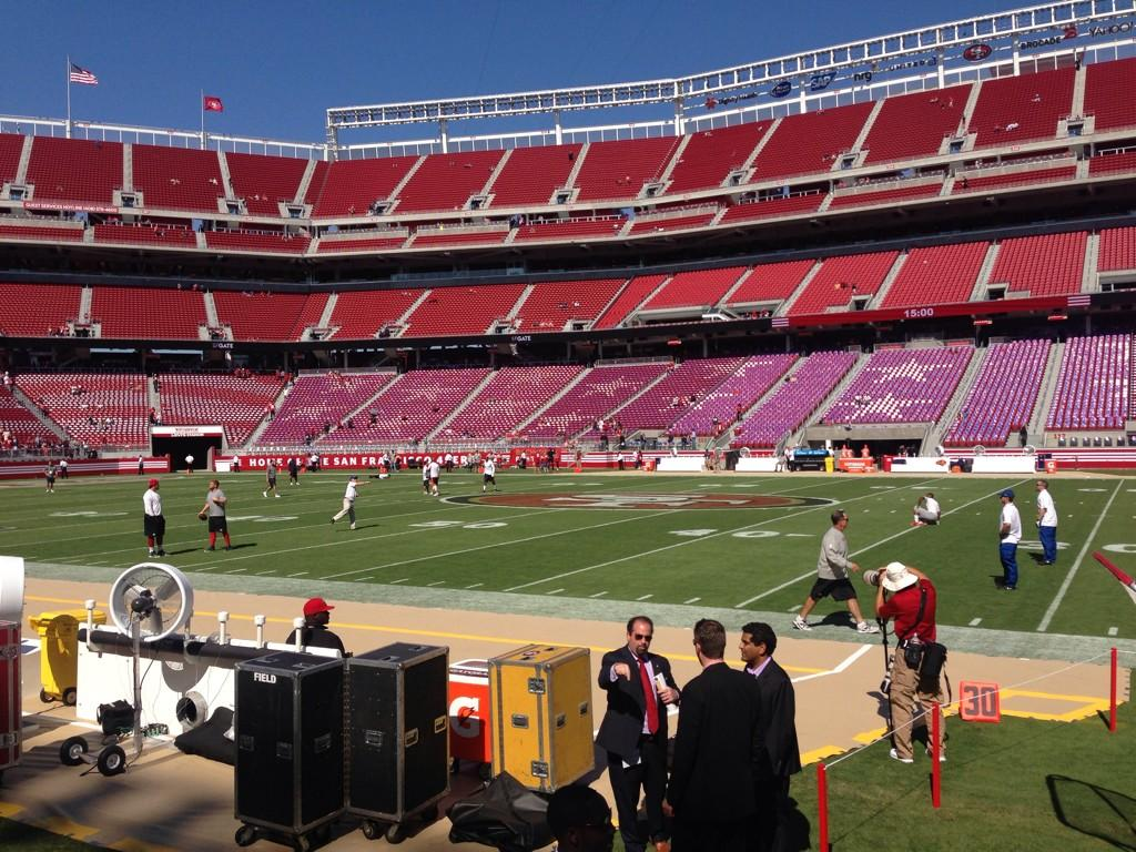 Seat view from section 136 at Levi's Stadium, home of the San Francisco 49ers