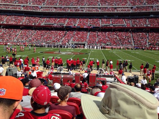 Seat view from section 137 at Levi's Stadium, home of the San Francisco 49ers