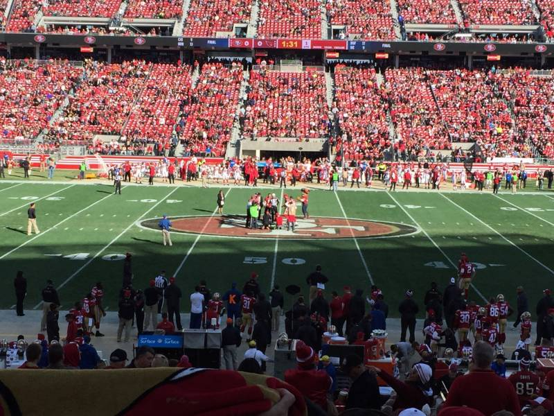 Seat view from section 138 at Levi's Stadium, home of the San Francisco 49ers