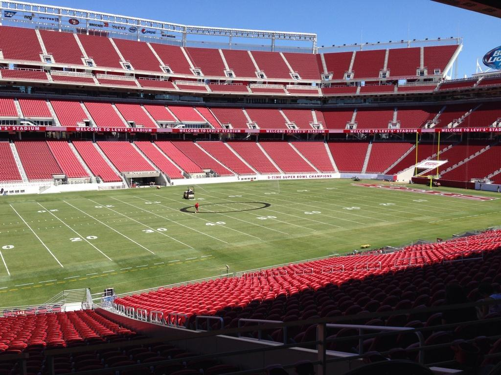 Seat view from section 142 at Levi's Stadium, home of the San Francisco 49ers
