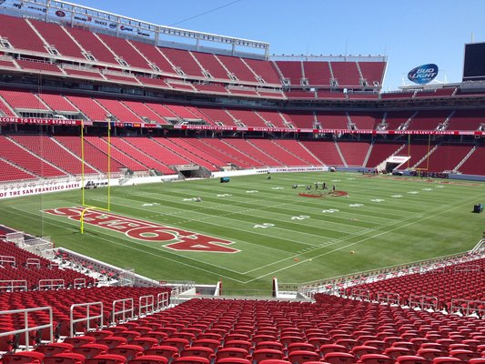 Seat view from section 145 at Levi's Stadium, home of the San Francisco 49ers