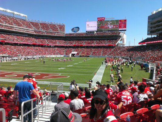 Seat view from section 146 at Levi's Stadium, home of the San Francisco 49ers