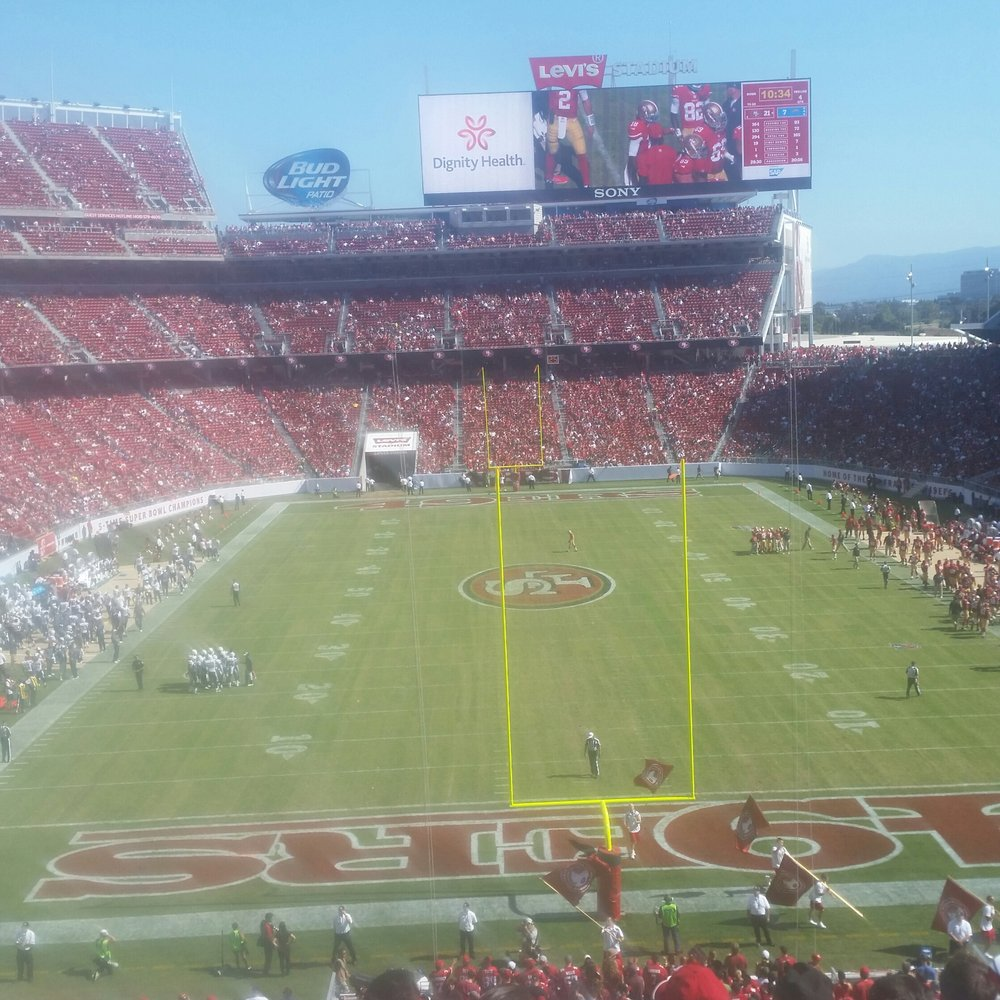 Seat view from section 203 at Levi's Stadium, home of the San Francisco 49ers