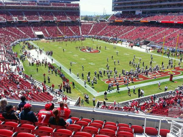Seat view from section 206 at Levi's Stadium, home of the San Francisco 49ers