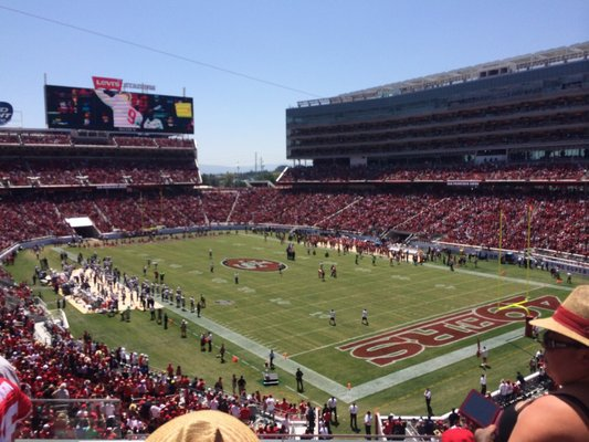 Seat view from section 208 at Levi's Stadium, home of the San Francisco 49ers