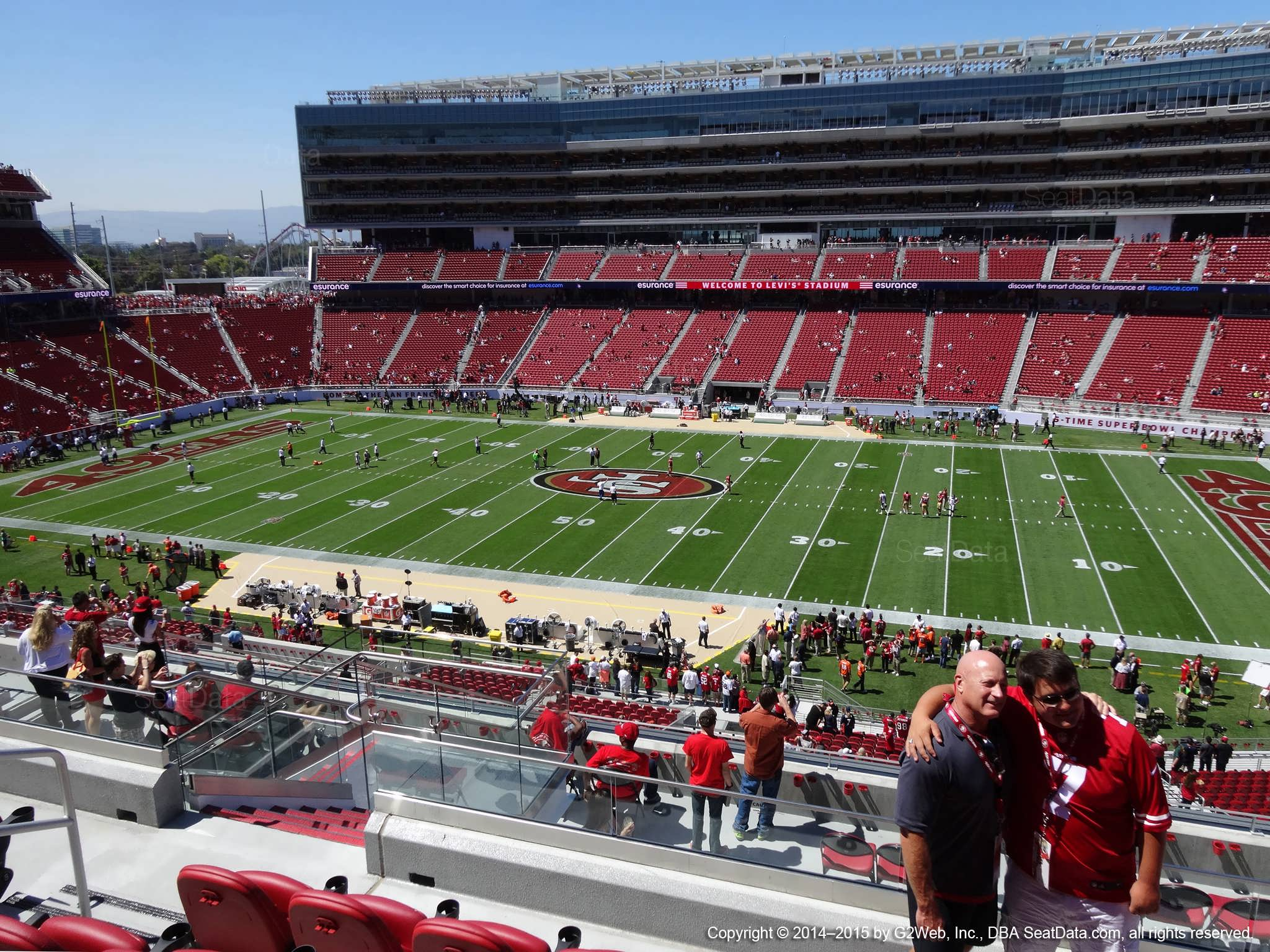 Seat view from section 213 at Levi's Stadium, home of the San Francisco 49ers