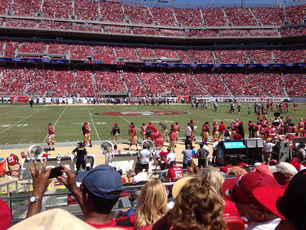 Seat view from section 139 at Levi's Stadium, home of the San Francisco 49ers