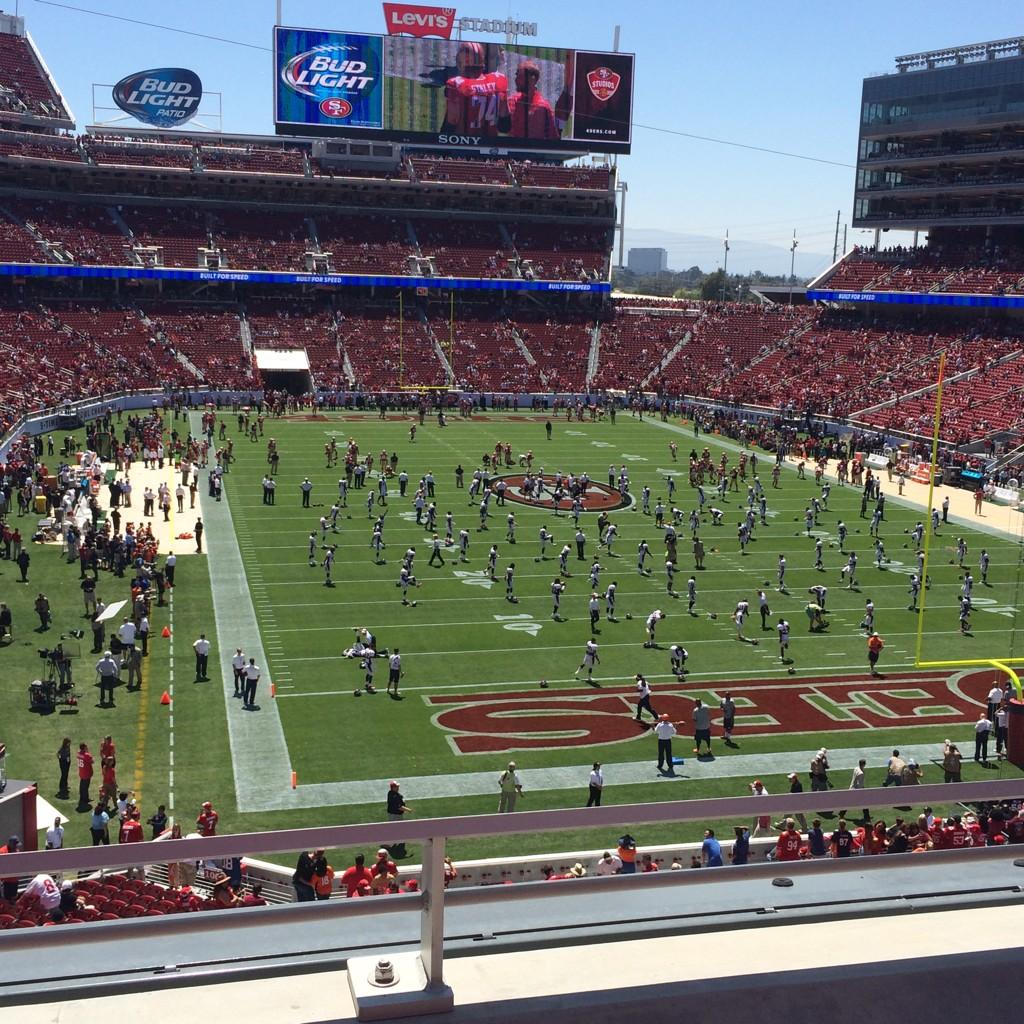 Seat view from section 205 at Levi's Stadium, home of the San Francisco 49ers