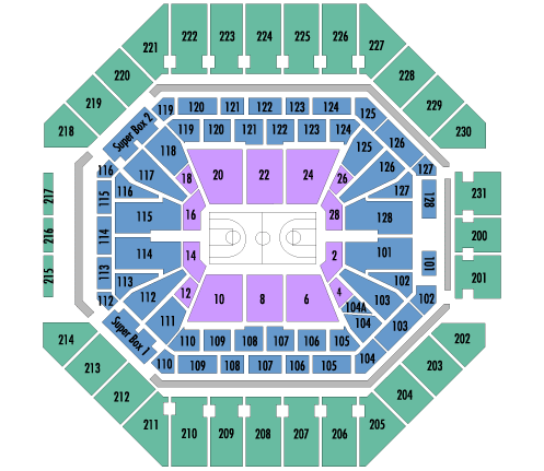 AT&T Center Seating Chart, San Antonio Spurs