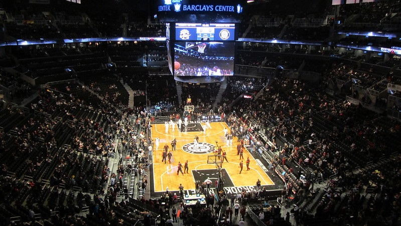 Photo taken from the Honda Club of the Barclays Center during a Brooklyn Nets home game.