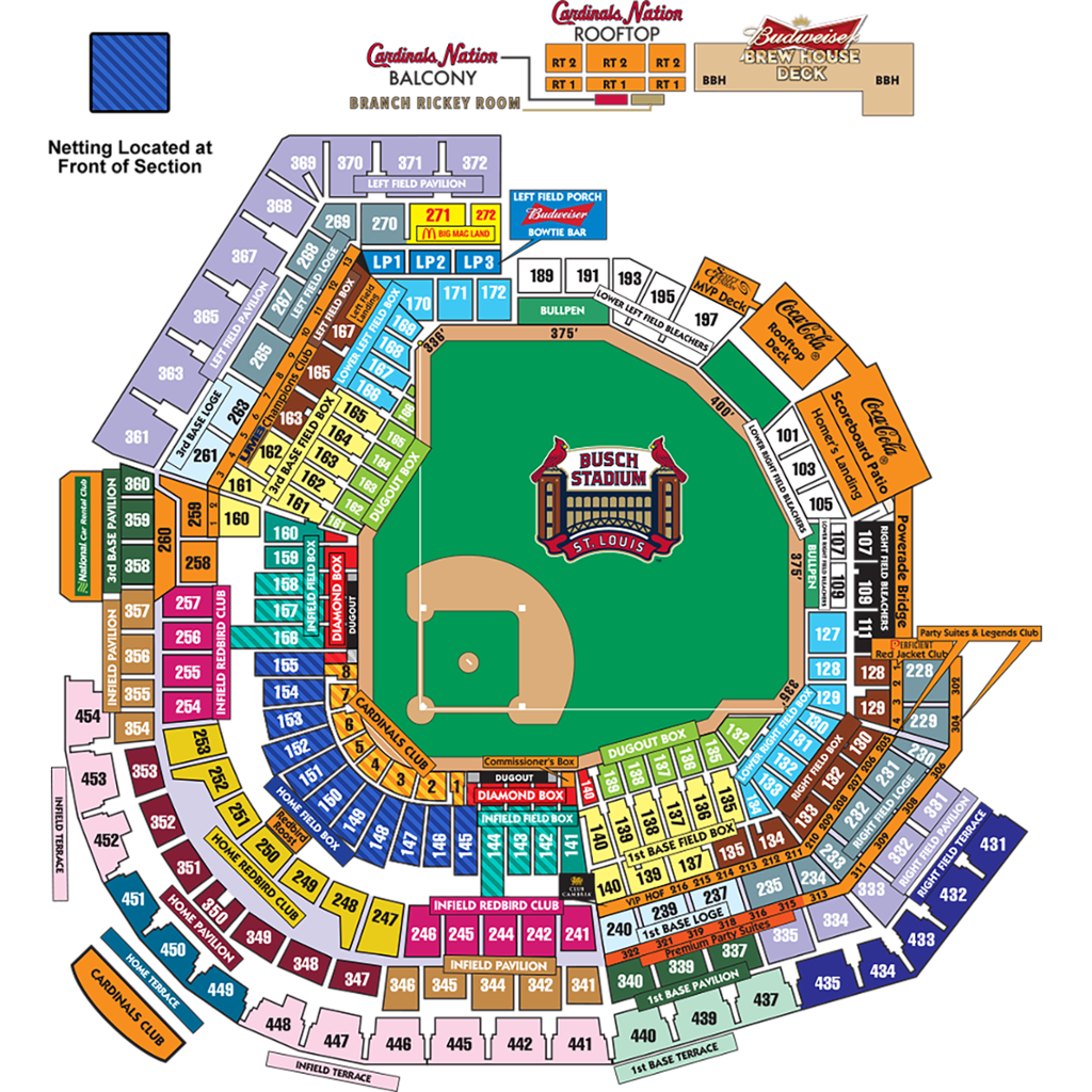 Busch Stadium Seating Chart, St. Louis Cardinals