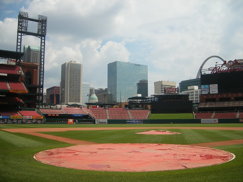 Photo taken from the Cardinals Club seats at Busch Stadium. Home of the St. Louis Cardinals.