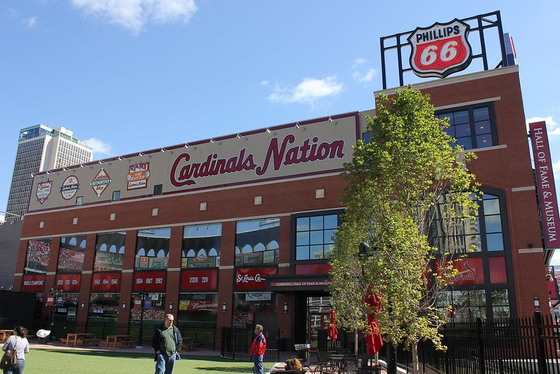 Photo of the Cardinals Nation Restaurant at Busch Stadium.