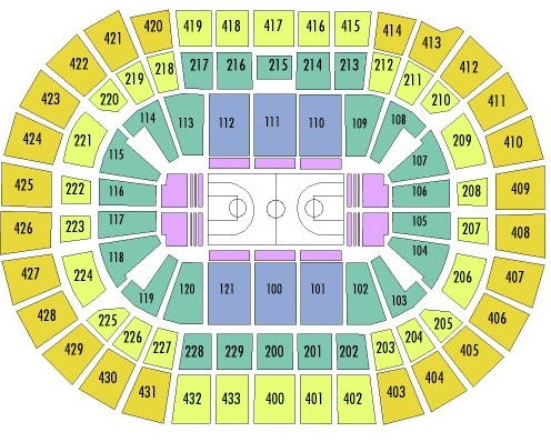 Capital One Arena Seating Chart, Washington Wizards