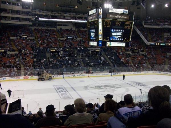 Panoramic photo of the ice at Civic Arena.