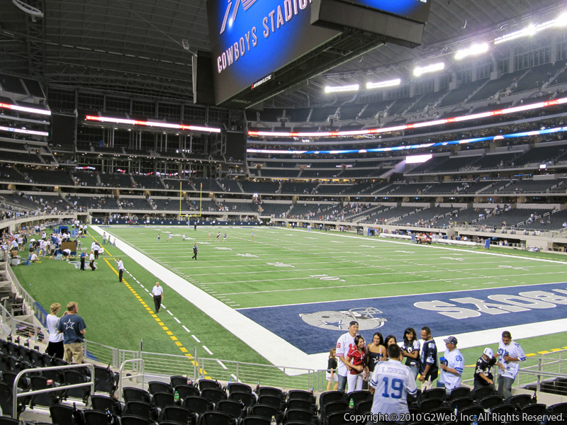 Seat view from section 101 at AT&T Stadium, home of the Dallas Cowboys