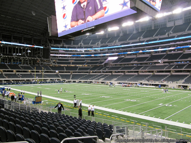 Seat view from section 106 at AT&T Stadium, home of the Dallas Cowboys