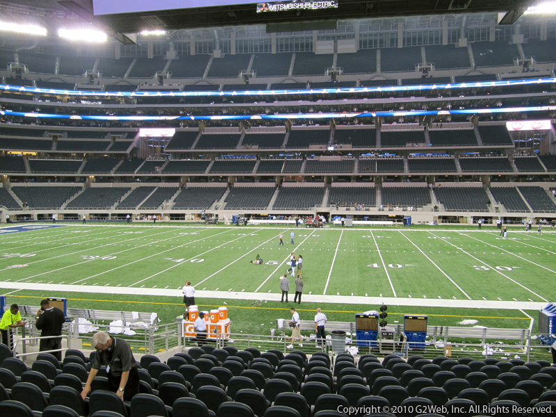 Seat view from section 110 at AT&T Stadium, home of the Dallas Cowboys