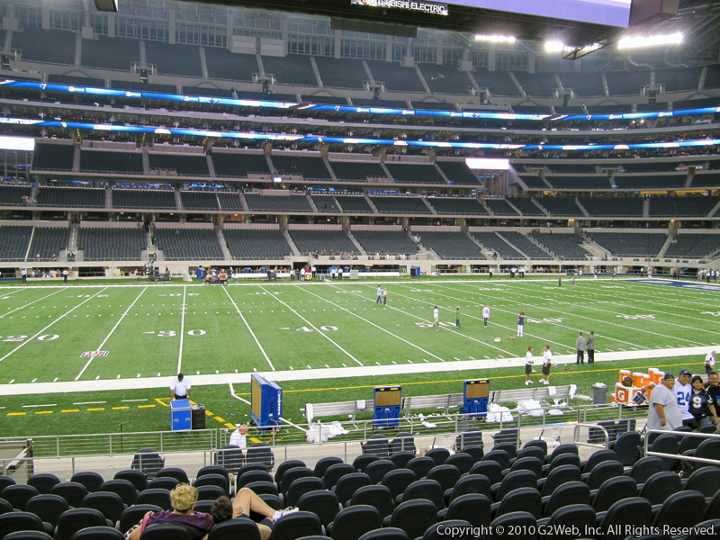 Seat view from section 112 at AT&T Stadium, home of the Dallas Cowboys