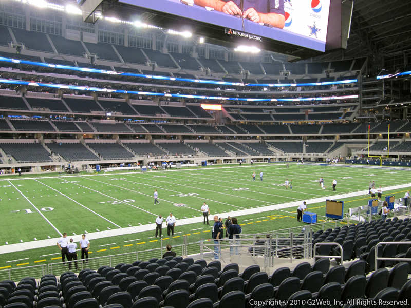 Seat view from section 114 at AT&T Stadium, home of the Dallas Cowboys