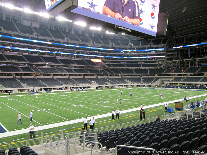 Seat view from section 115 at AT&T Stadium, home of the Dallas Cowboys