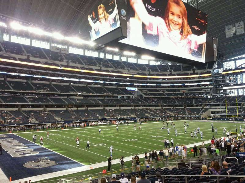 Seat view from section 118 at AT&T Stadium, home of the Dallas Cowboys