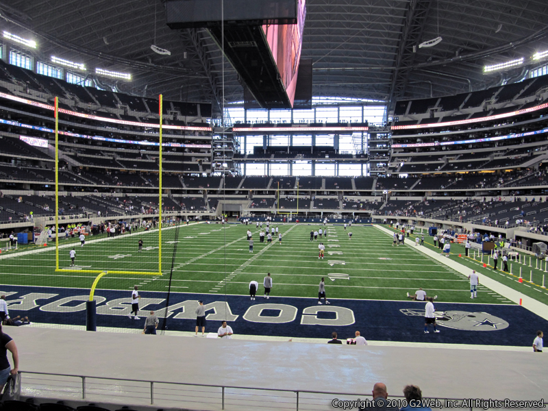 Seat view from section 122 at AT&T Stadium, home of the Dallas Cowboys