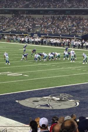 Seat view from section 126 at AT&T Stadium, home of the Dallas Cowboys