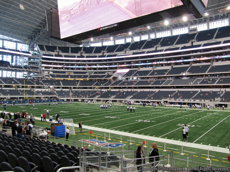 View from Section 132 at AT&T Stadium