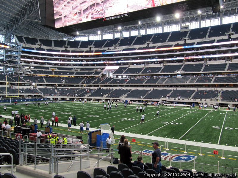 Seat view from section 133 at AT&T Stadium, home of the Dallas Cowboys