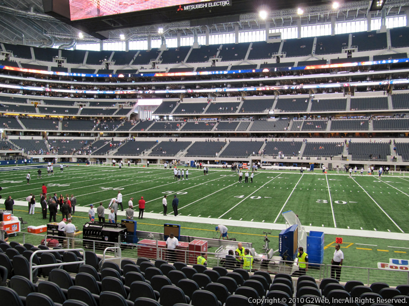 Seat view from section 134 at AT&T Stadium, home of the Dallas Cowboys