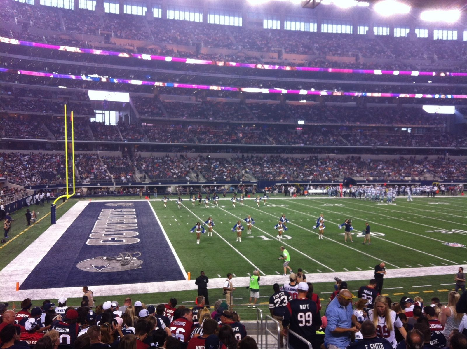Seat view from section 143 at AT&T Stadium, home of the Dallas Cowboys