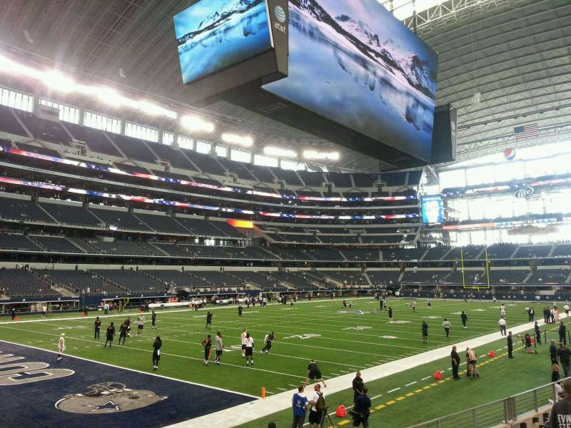 Seat view from section 145 at AT&T Stadium, home of the Dallas Cowboys