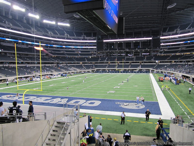 Seat view from section 146 at AT&T Stadium, home of the Dallas Cowboys