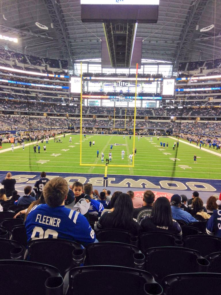 Seat view from section 148 at AT&T Stadium, home of the Dallas Cowboys